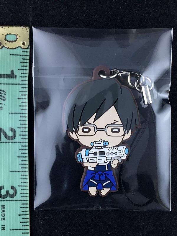Details About Boku No My Hero Academia Nitotan Wg Rubber Strap Key Chain Tenya Iida New