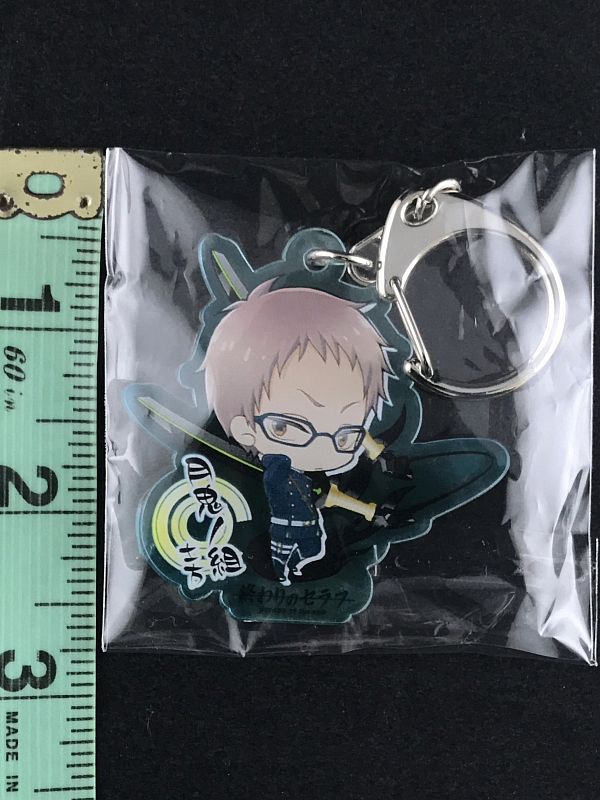 Shinoa /& Mitsuba Owari no Seraph of the End Acrylic Mascot Keychain